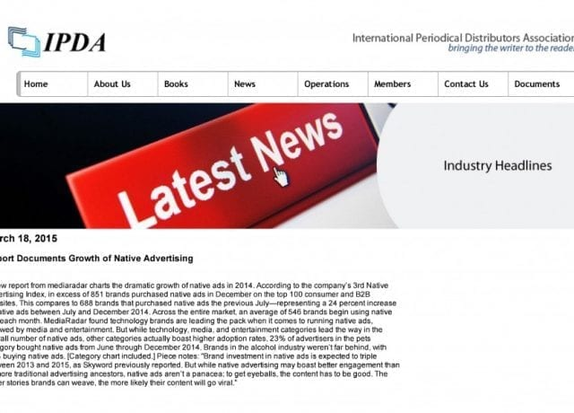 Report Documents Growth of Native Advertising