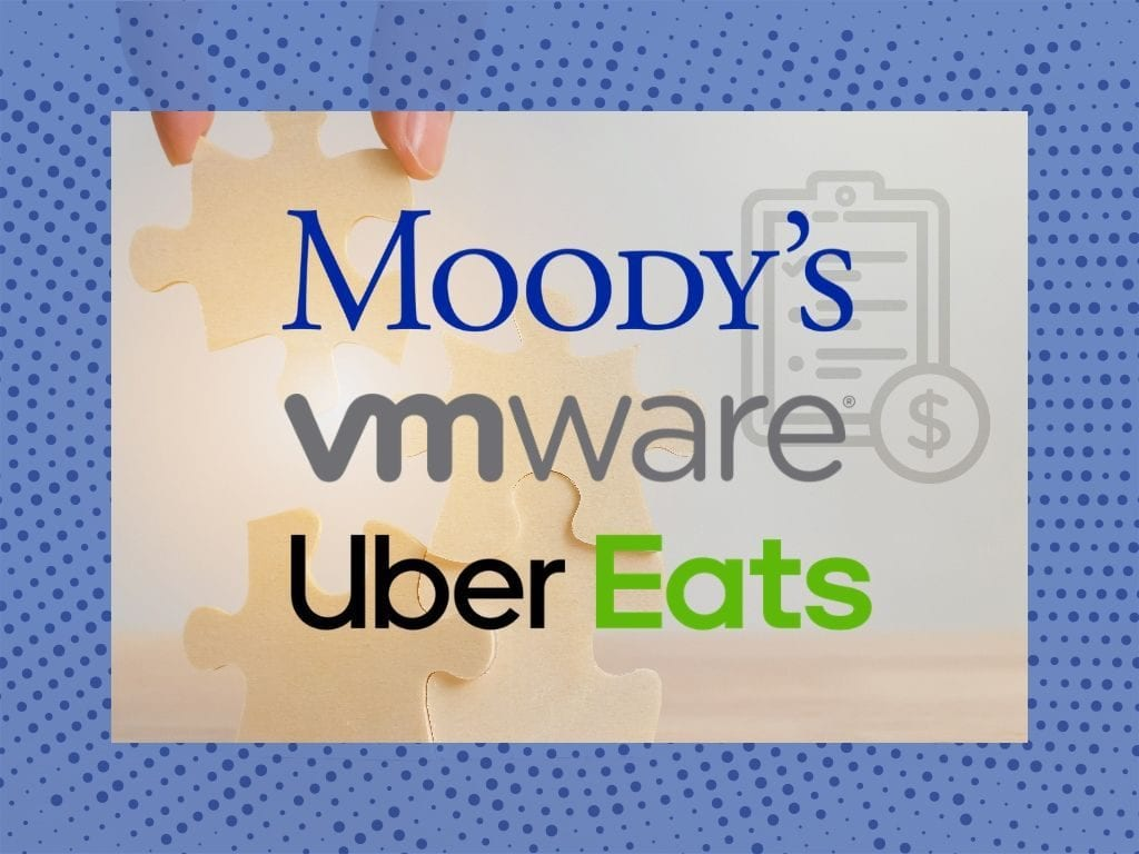 M&A Report: Moody's, VMware, and UberEats In the News