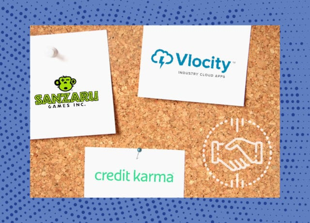 M&A Report: Sanzaru Games, Vlocity and Credit Karma In the News