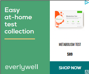 everlywell at-home medical testing metabolism test stock image